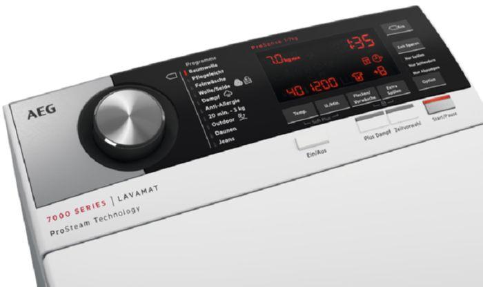 AEG ProSteam LTX7C562C ovládací panel
