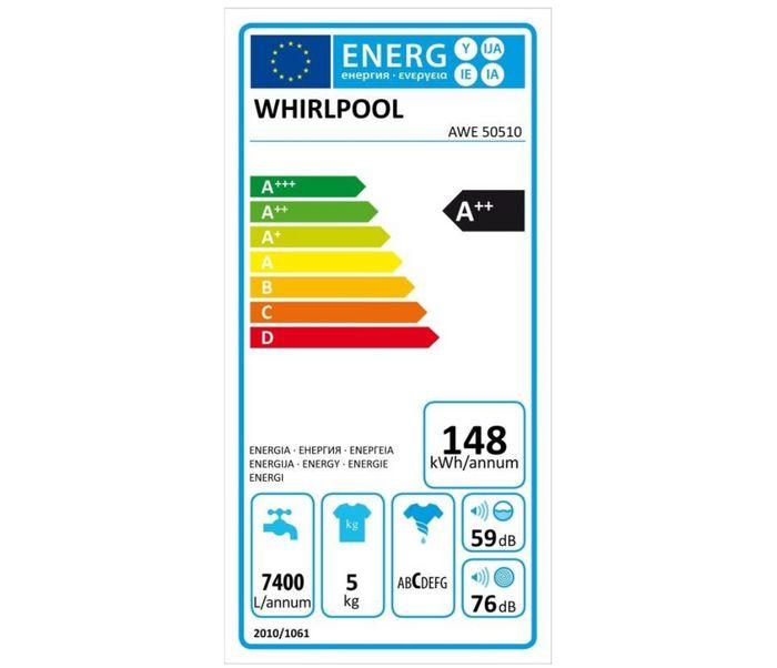 Whirlpool AWE 50510 energetický štítok