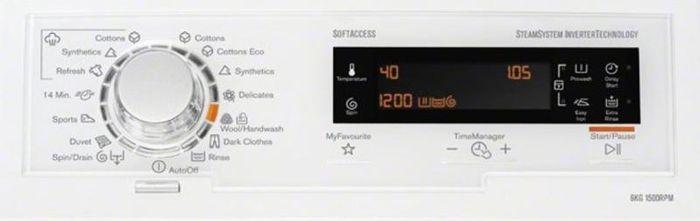 Electrolux EWT1567VIW ovládací panel