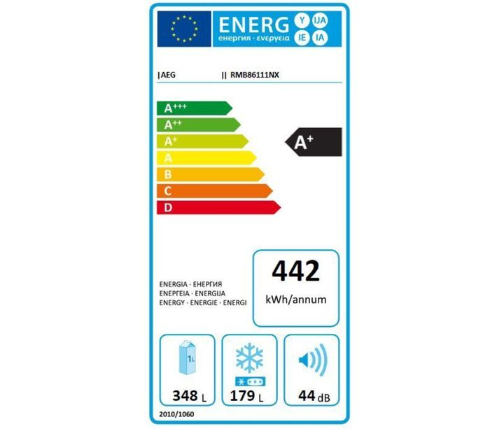 AEG RMB86111NX energetický štítok