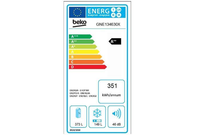 Beko GNE 134630 X energetický štítok