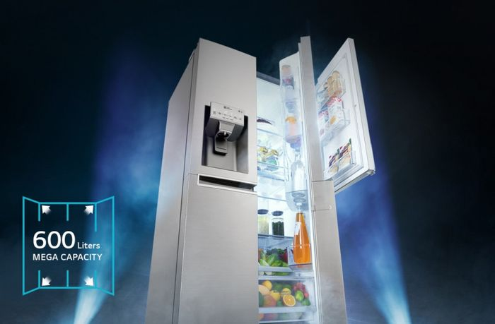 LG GSB760PZXZ - objem chladničky