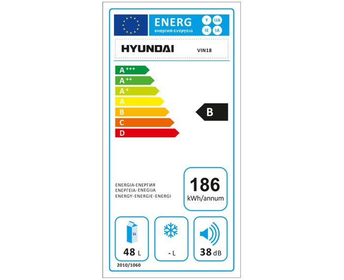 Hyundai VIN18 energetický štítok