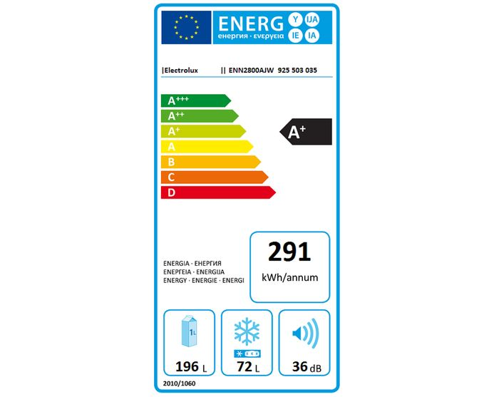 Electrolux ENN 2800AJW energetický štítok