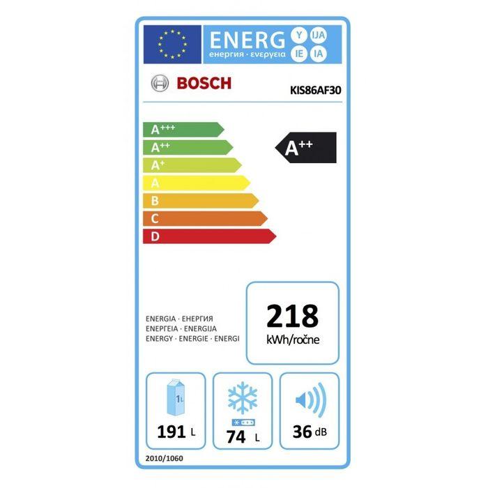 Bosch KIS 86AF30 energetický štítok