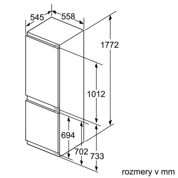 Bosch KIS 86AF30 rozmery