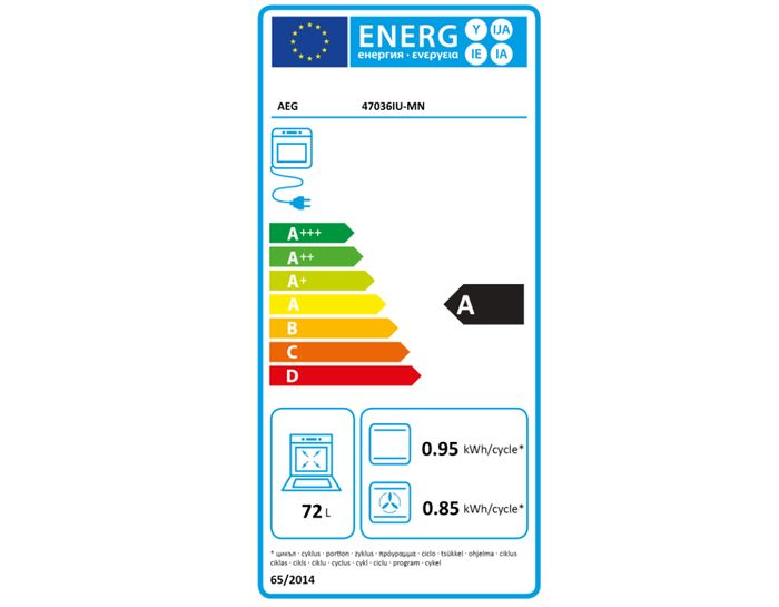 AEG Competence 47036IU-MN energetický štítok