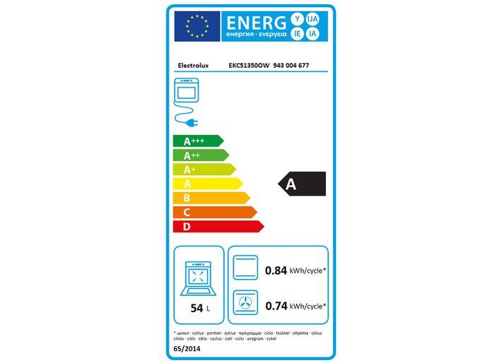 Electrolux EKC 51350OW energeticky štítok