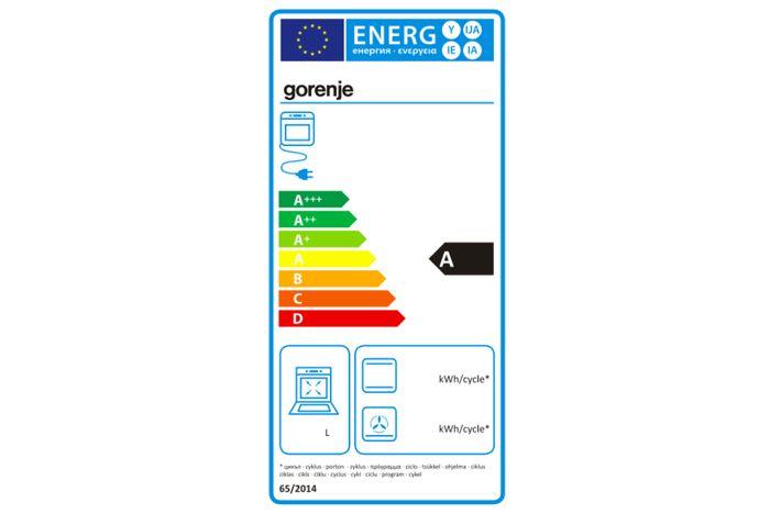 Gorenje EC 52 CLI energetický štítok