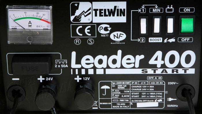 Telwin Leader 400 Start ovládací panel