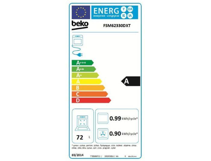 Beko FSM 62330 DXT energetický štítok