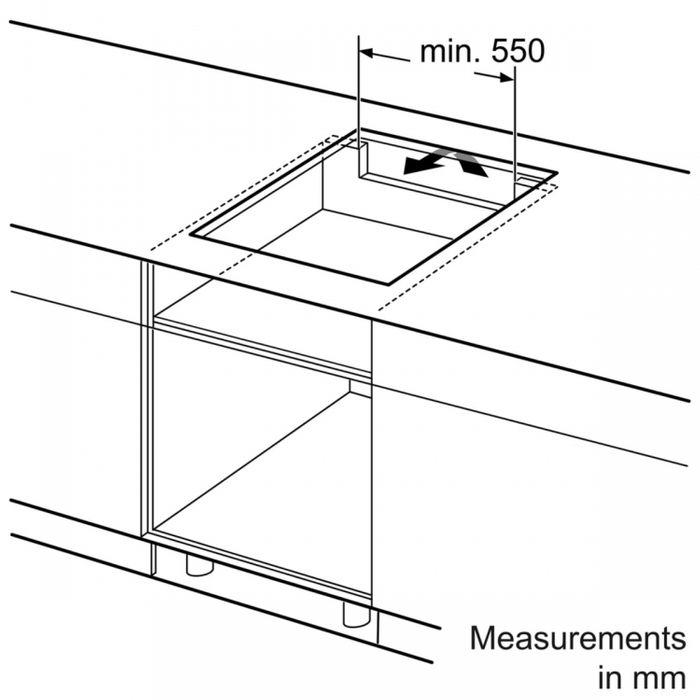 Bosch PIE 651FC1E rozmery