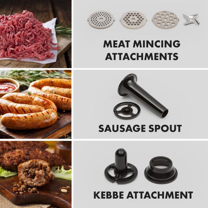 Klarstein Curve Plus nadstavce na mlynček na mäso