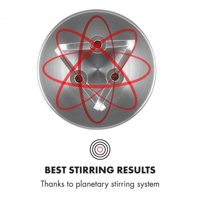 Klarstein Curve Plus planetárny systém miešania