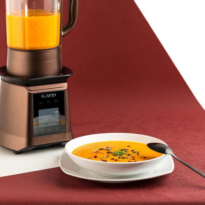 Príprava polievky v stolnom mixériKlarstein Herakles Heat