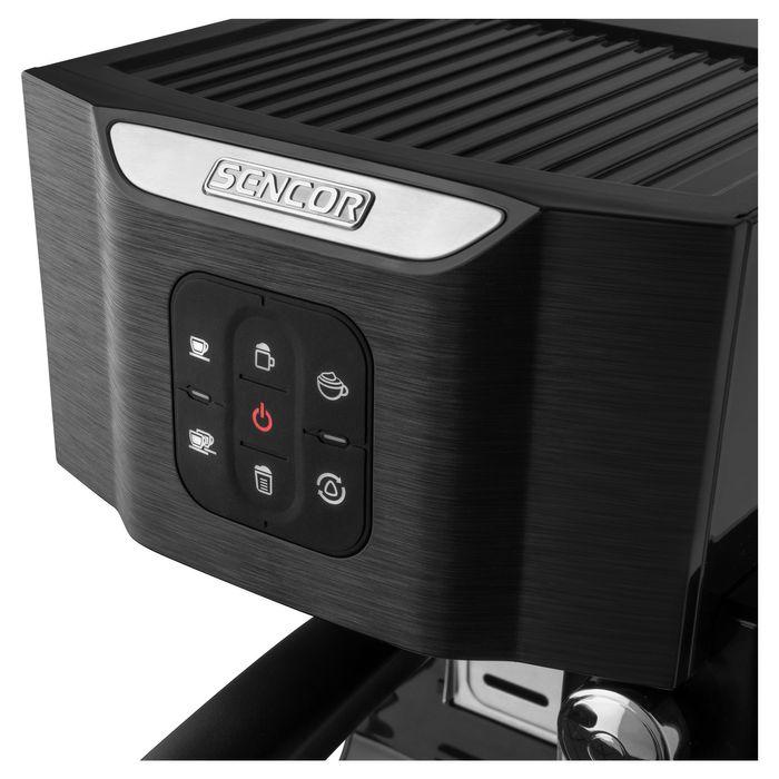 Ovládanie pákového kávovaru Sencor SES 4040BK