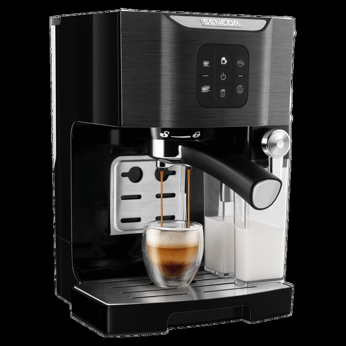 Príprava kávy v kávovare Sencor SES 4040BK