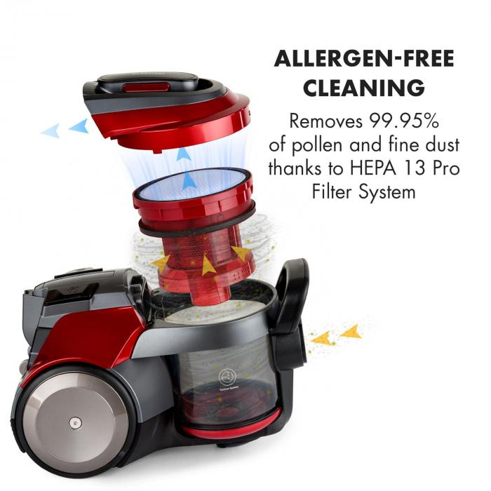 Bezvreckový vysávač Klarstein Clean King Ergo je vhodný aj pre alergikov