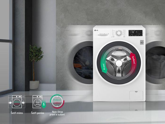 Automatická práčka so sušičkou LG F70J7HG0W