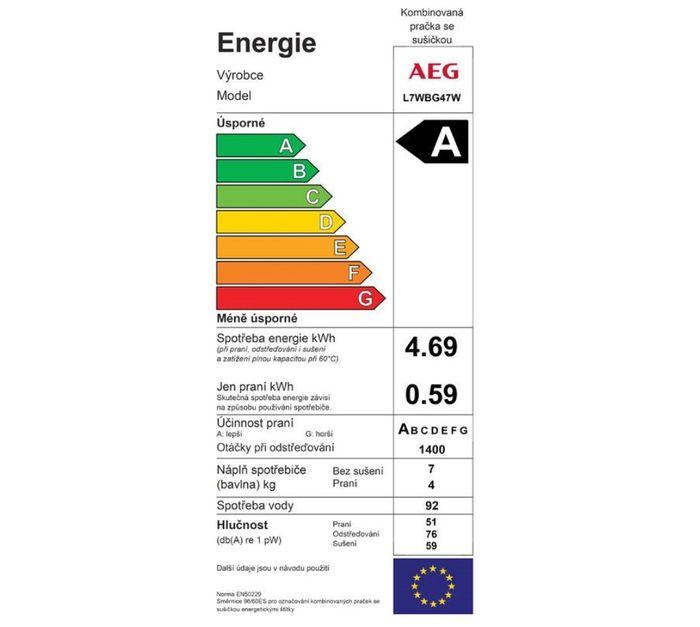 AEG Dualsense L7WBG47W energetický štítok