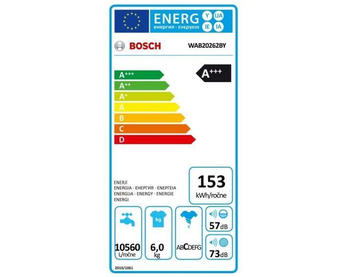 Bosch WAB 20262BY energetický štítok
