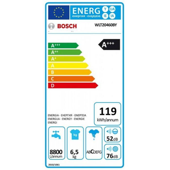 Bosch WLT20460BY energetický štítok