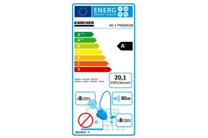 Kärcher AD 4 Premium energetický štítok
