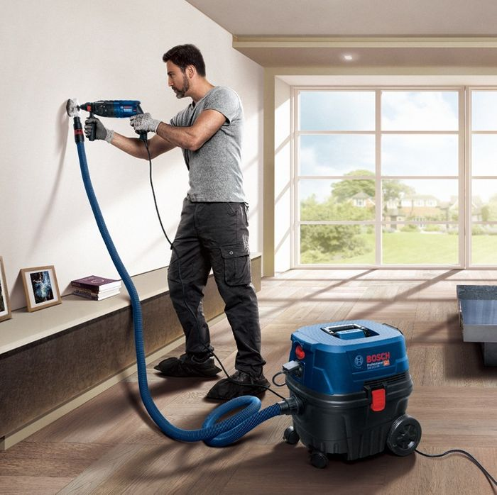 Systém Click & Clean vysávača Bosch GAS 12-25 PL Professional
