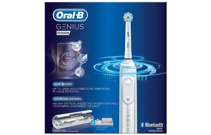 Oscilačno-rotačná zubná kefka Oral-B Genius 10000N White