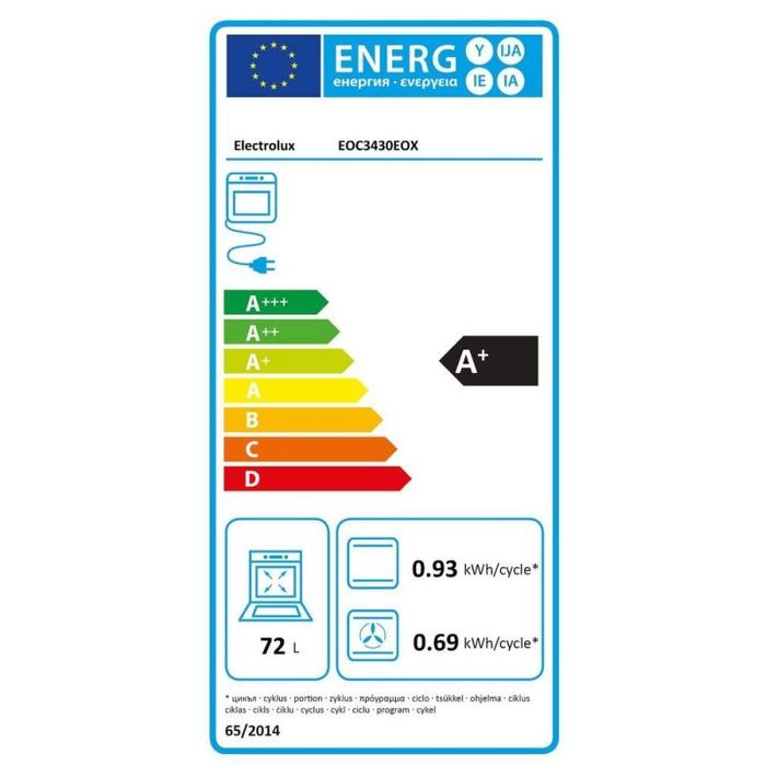 Electrolux EOC3430EOX energetický štítok