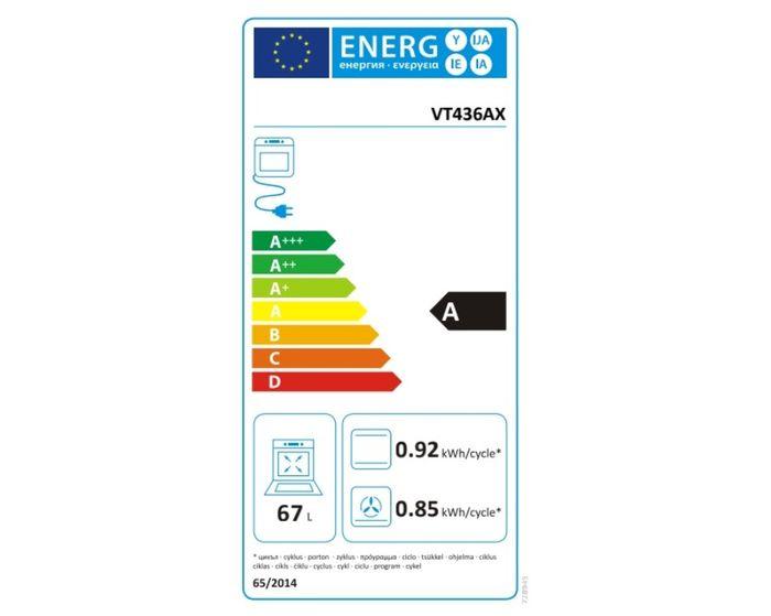 Mora VT 436 AX energetický štítok