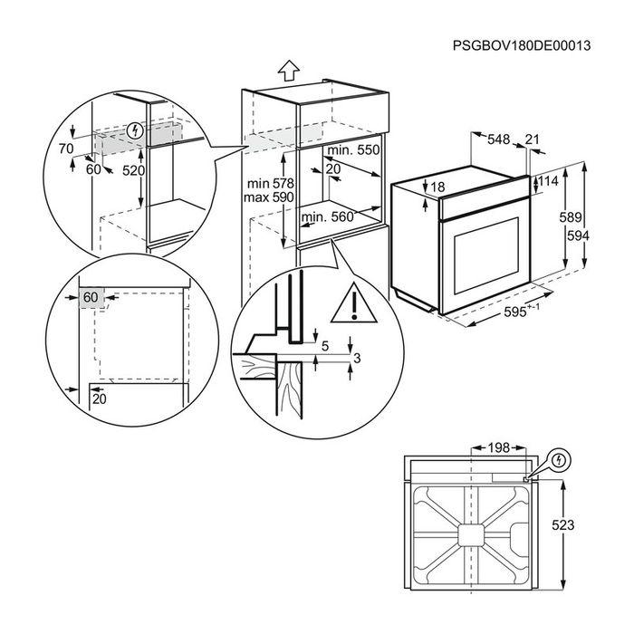 Electrolux EOD6C71X rozmery