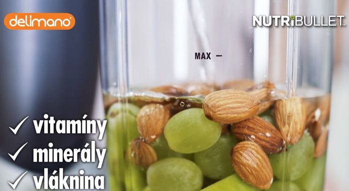 Delimano Nutribullet 600 príprava smoothie nápoja
