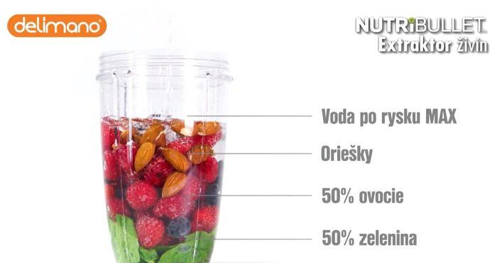 Delimano Nutribullet 600 mixovanie smoothie