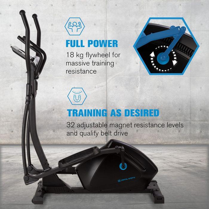 18 kg záťažové koleso eliptického trenažéra Helix Track