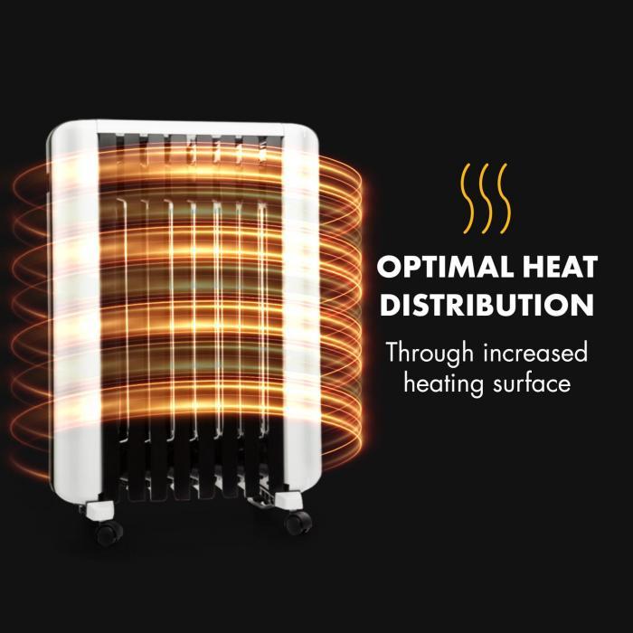 Olejový radiátor Klarstein Thermaxx 2000 systém kúrenia