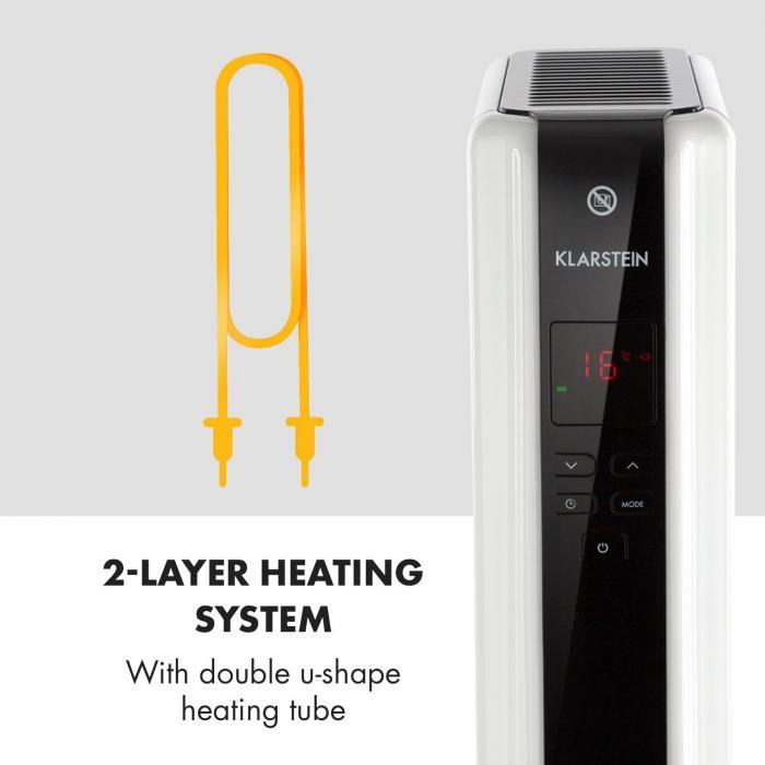 Klarstein Thermaxx 2000 tepelný systém