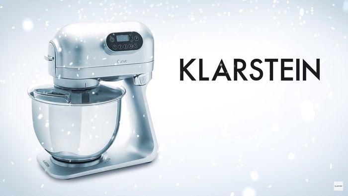 Kuchynský robot Klarstein Curve Plus v striebornej farbe