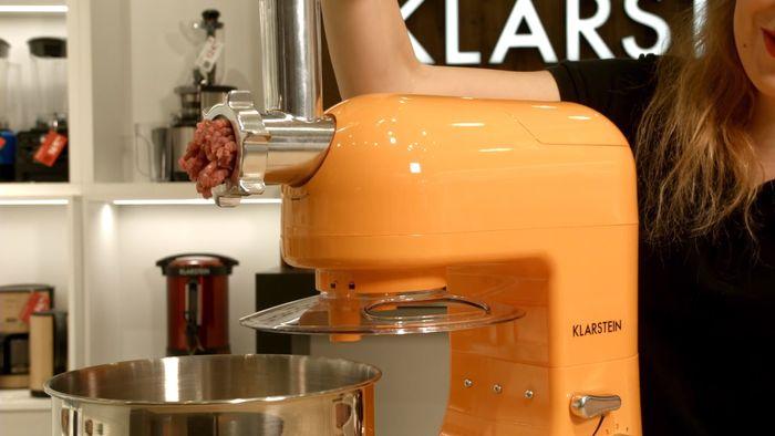 Mletie mäsa s multifunkčným robotom Klarstein Lucia Orangina