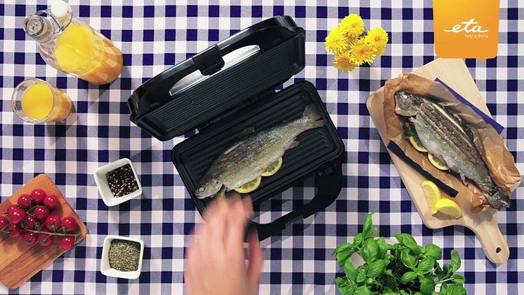 Grilovanie ryby v sendvičovači ETA Sorento 3151