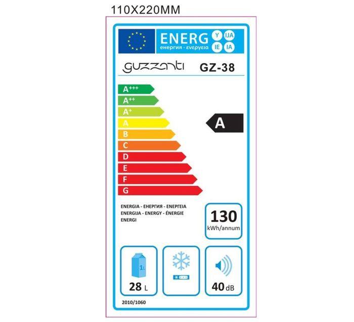 Guzzanti GZ 38 energetický štítok