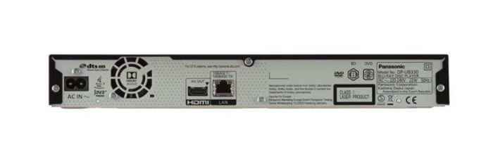 Vstupy Blu-ray prehrávača Panasonic DP-UB150EG-K