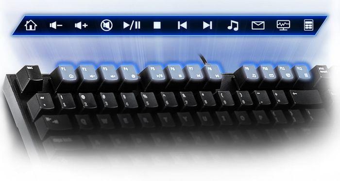 Klávesy F1 až F12 na klávesnici Gigabyte Force K81 GK-FK81RE-US