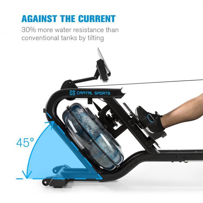 Sklon záťažového kolesa veslovacieho trenažéra Capital Sports Flow M2