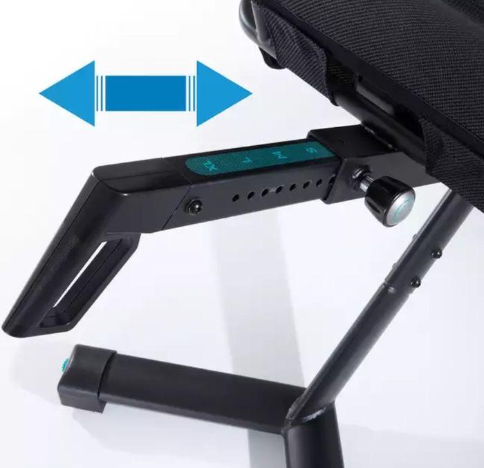 Nastavovanie dĺžky rotopedu Domyos E Seat