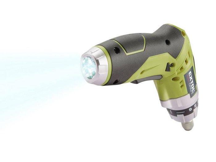 Aku skrutkovač Extol Craft 402114 s LED osvetlením