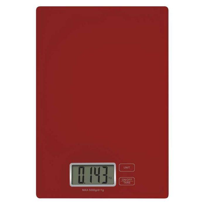 Červená kuchynská váha Emos EV003