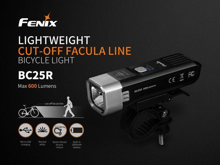 Svetlo na bicykel Fenix BC25R