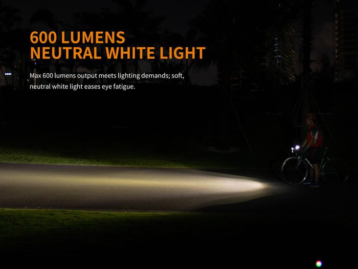 Fenix BC25R svietivosť