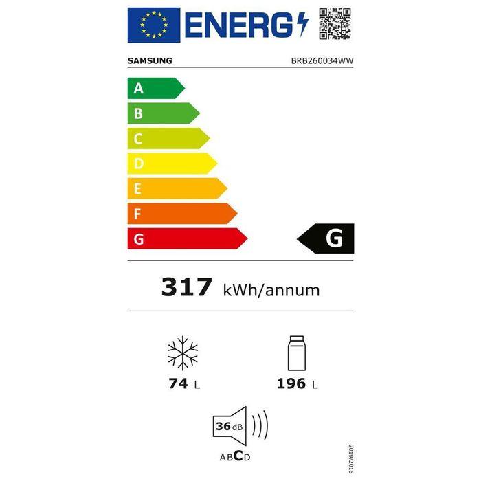 Samsung BRB260034WW energetický štítok